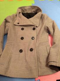 H&M grey coat size 8