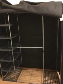 Triple black canvas wardrobe