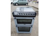 TRICITY BENDIX 55cm DOUBLE OVEN ELECTRIC COOKER-SILVER