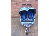 Out N About Double Pram - Blue