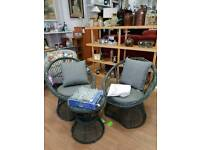 New rattan effect garden set 2 curved chairs and table was 149.99 now 127.49