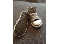 Converse all star - toddler child size 8 grey