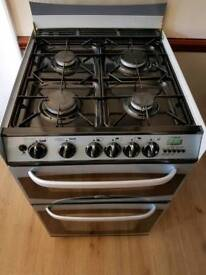 Very clean Cannon gas cooker. Display, Black and silver. Hob, oven, Grill. fully working. Delivery