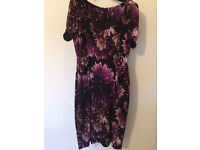 Marks & Spencer Collections Black & Purple Dress Size 18