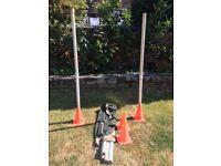 Goal posts, 5 foot high. Portable