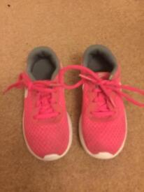 Girls size 11 Nike pink trainers