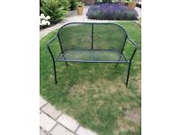 Metal black garden bench