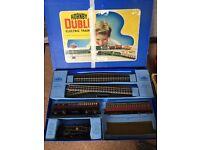 A Rare 1950's Hornby Dublo Electric Meccano Train Set in Original Box + Extras