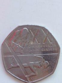 2014 Commonwealth Games Glasgow 50p Coin fifty pence
