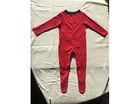 BabyGirl's fullbody Baby Grow,dark pink,George,made in Sri Lanka,size 18-24 Moth