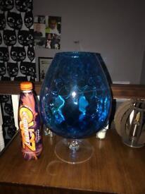 Retro large brandy glass vase
