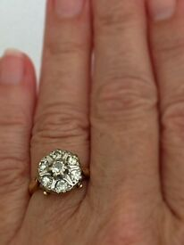 Stunning 20th century diamond cluster ring size J £900.00 or sensible offer.