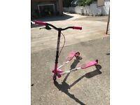 Pink scooter in good used condition no longer used
