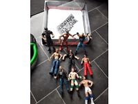 Used, W W E wrestling figures and ring. for sale  Bristol