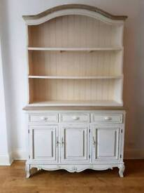 Wood Shabby chic French Country Kitchen Dresser - Vintage Cream