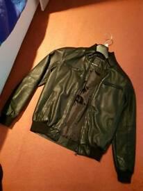 Men leather look jacket XS