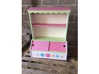 Vertbaudet book case, childs room, pink with flowers