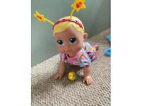 Baby born crawling doll
