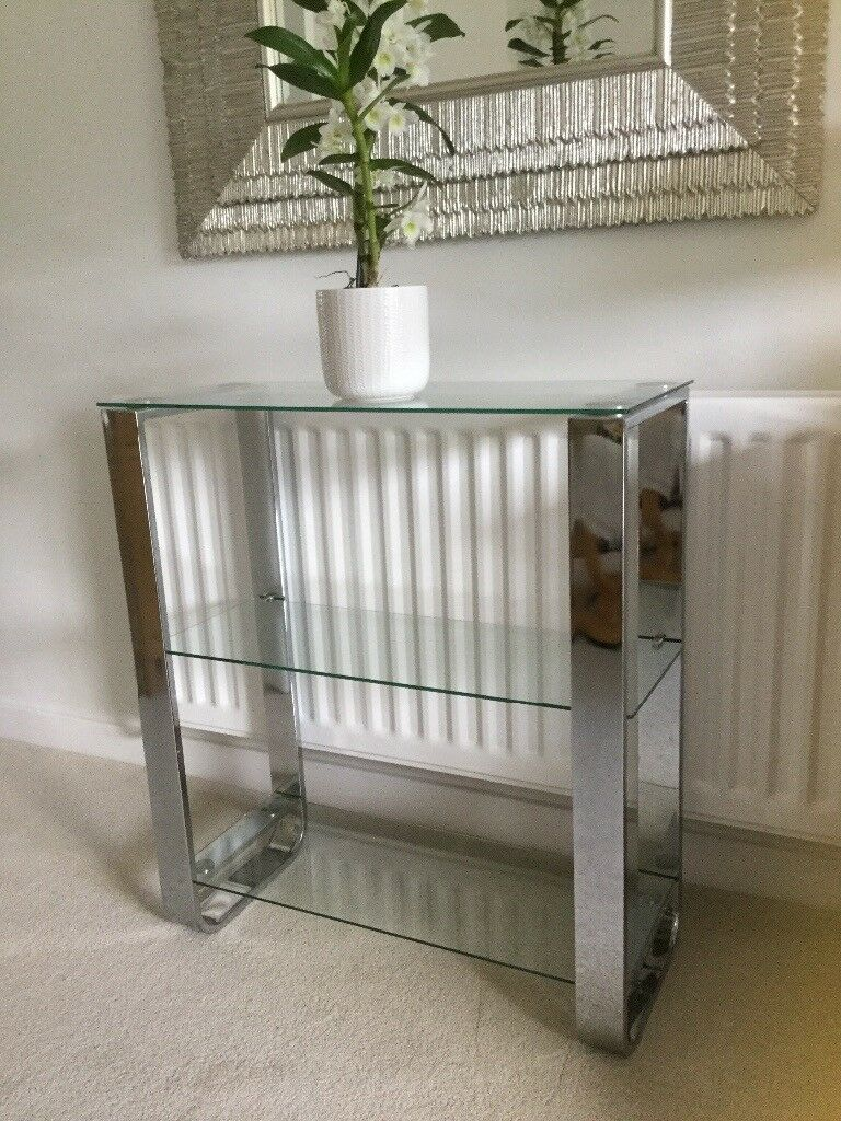 Chrome And Glass Console Table In Huntingdon Cambridgeshire