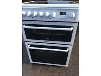 White Hotpoint Electric ceramic cooker (60cm width)