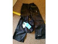 Boys waterproof trousers with back 5-6 years
