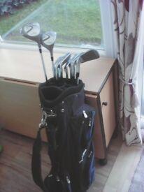 Full set Wilson clubs plus bag
