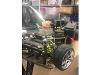 Nitro RC car very fast and low down