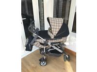 Rare Burberry style pushchair/travel system