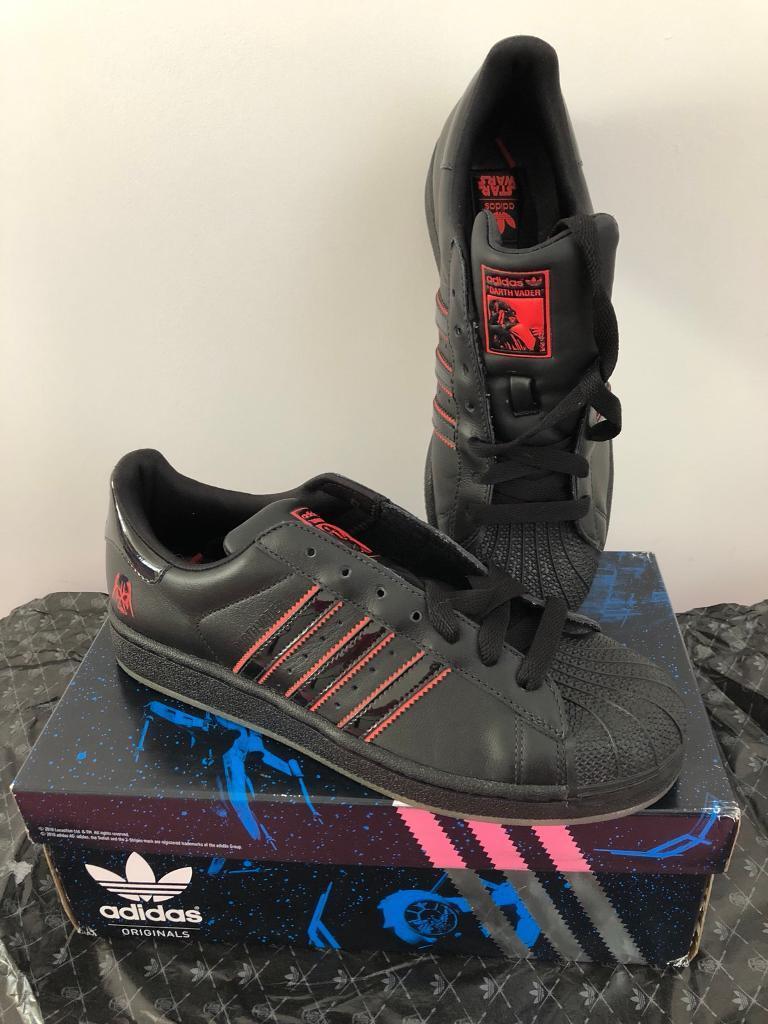 sports shoes ec65b e1440 Brand new Star Wars Adidas originals Darth Vader Superstar 2 Trainers