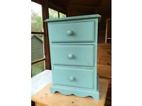 Small blue chest of drawers