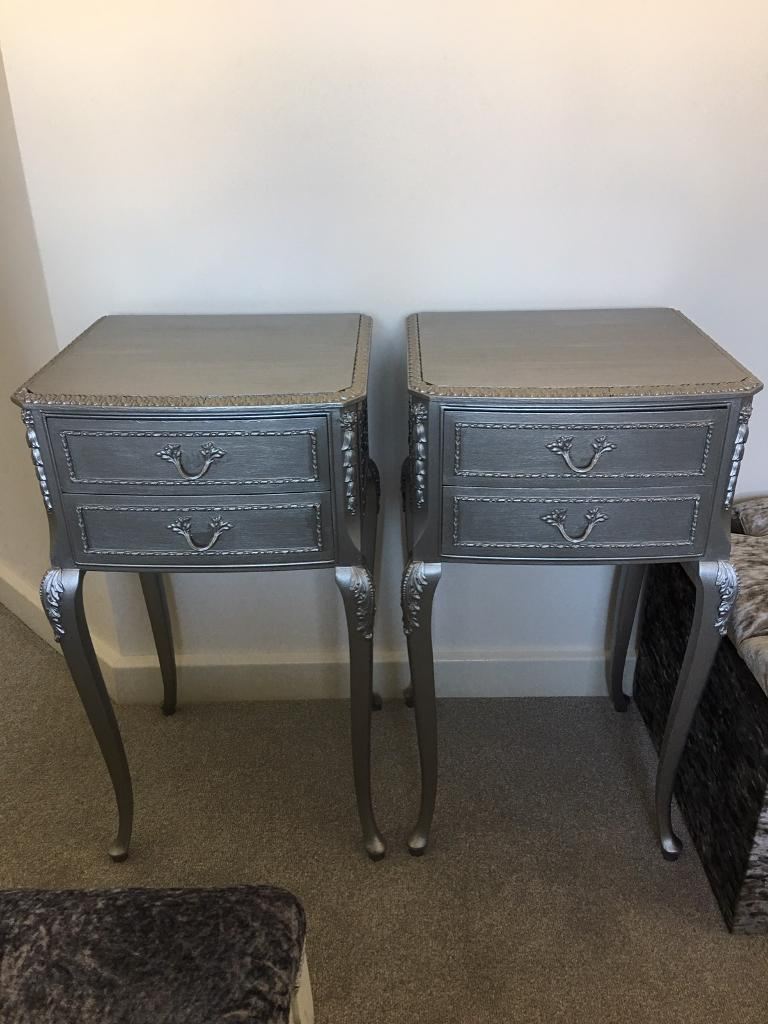 French Louis bedside cabinets