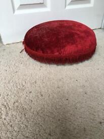 Vintage velvet covered footstool