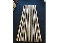 Striped Whipped carpet hallway runner 200cm x 76cm