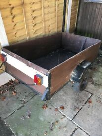 "Wooden trailer for sale approximately 5""x3"""