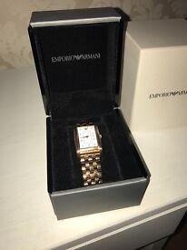 Emporio Armani Rose Gold Braclet Watch