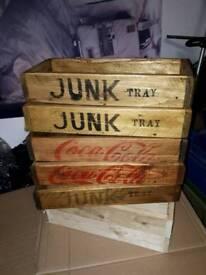 Hand made junk tray box
