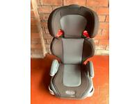 GRACO junior child Car Seat in grey black. Good condition fully working order.
