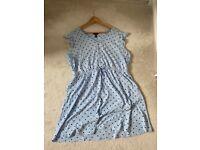 New look blue spot dress