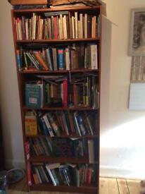 Tall pine veneer bookcase 6 shelves