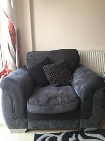 Black/Grey DFS sofa suite