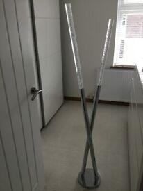 silver chrome LED floor lamp BRAND NEW