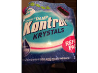 1 Case 12.5KG of Kontrol Refill Damp Moisture Trap Absorber Crystals 5 x 2.5KG