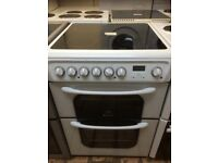 Hotpoint 60 cm double oven ceramic top electric cooker £160