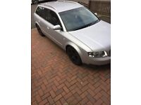 Audi A4 Estate 1.9 tdi se silver with 154000 miles , nice tidy car , usual age related marks