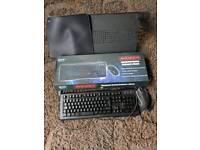 Gaming keyboard, mouse,mat, laptop table