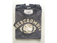 Abercrombie Men Tee Grey Washed Size Small - Brand New -60% off