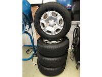 Ford ranger alloys these wheels have done 80 miles since new all in mint condition including tyres
