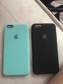 Apple silicone cases I phone 6 s plus