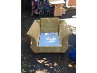 2 Rattan Single Chairs