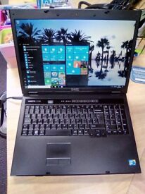 Dell Vostro 1720 Laptop, Windows 10, MS Works, Dual Core, 320gb Hard Drive, Wifi, Charger